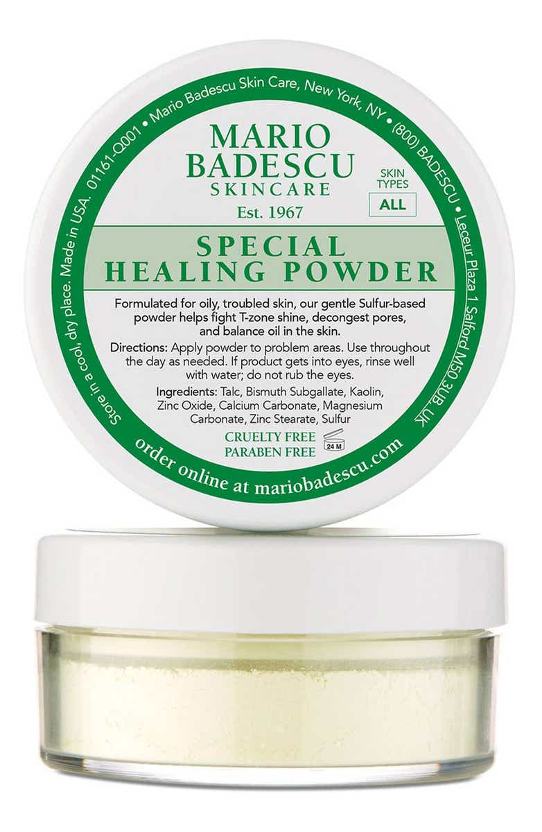 Special healing powder for problem skin