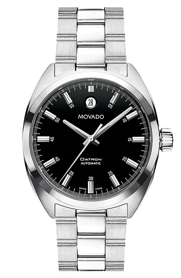 Alternate Image 1 Selected - Movado 'Datron' Automatic Stainless Steel Watch, 38mm