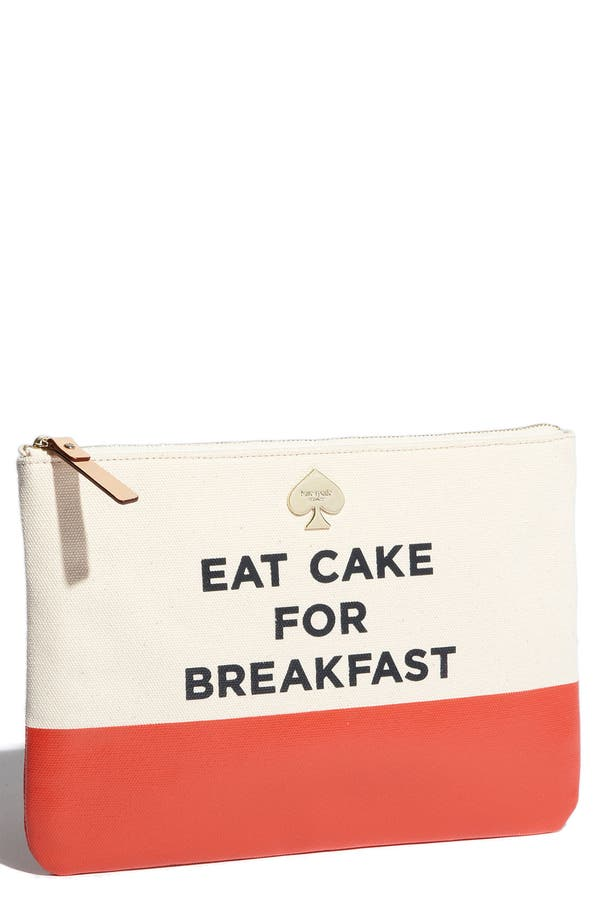 Main Image - kate spade new york new york 'call to action - gia' cosmetics pouch