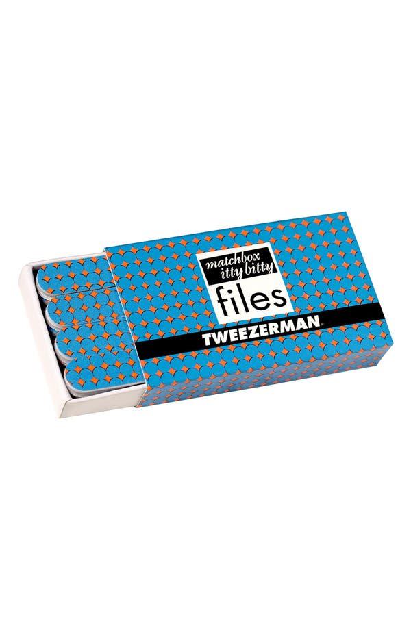 Alternate Image 1 Selected - TWEEZERMAN 'Matchbox Itty Bitty Blue Jewel' Nail Files