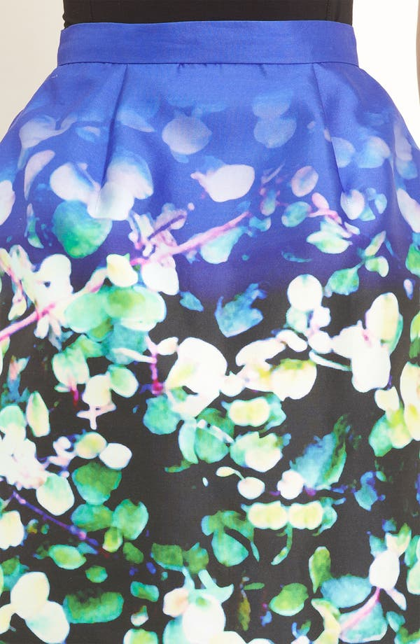 Alternate Image 3  - Oscar de la Renta Leaf Print Silk & Cotton Skirt
