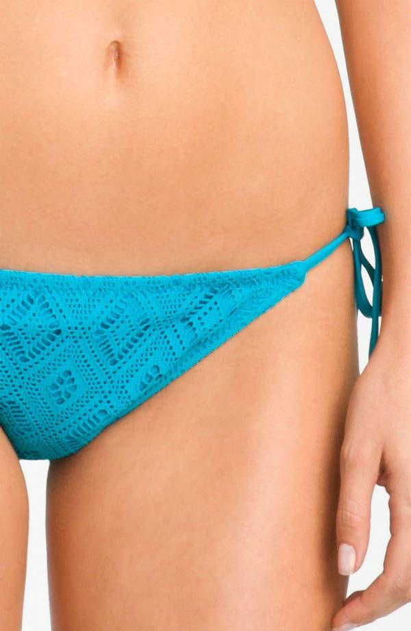 Alternate Image 3  - Becca Crochet Side Tie Bikini Bottoms
