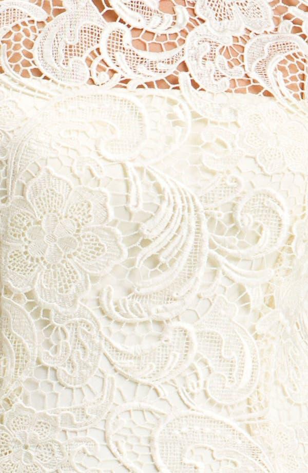 Alternate Image 3  - Adrianna Papell Illusion Neck Lace Sheath Dress