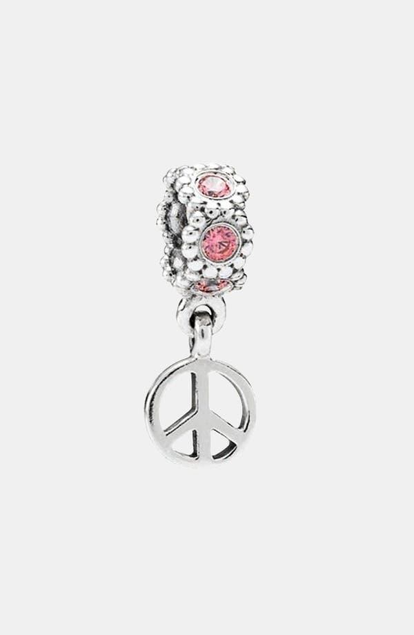 Alternate Image 1 Selected - PANDORA Peace Sign Dangle Charm