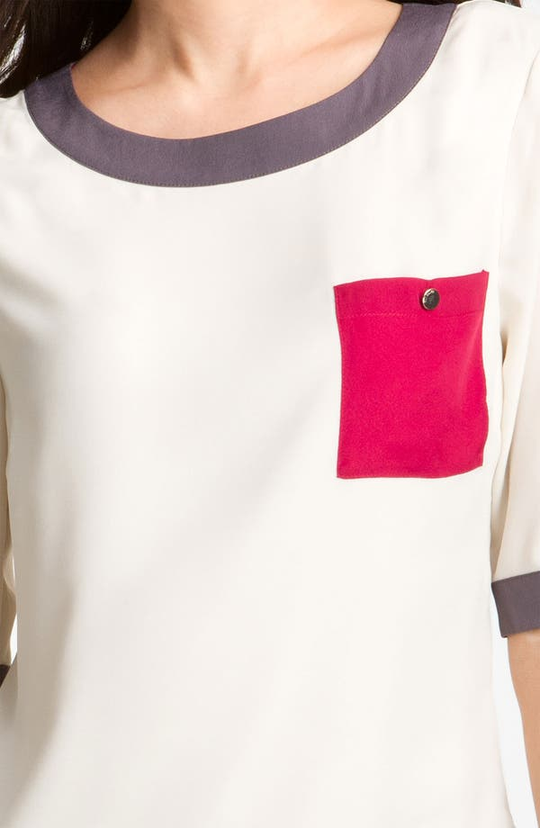Alternate Image 3  - Ted Baker London Colorblock Woven Tee