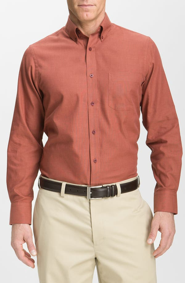Alternate Image 1 Selected - Nordstrom Smartcare™ Cotton Dobby Sport Shirt
