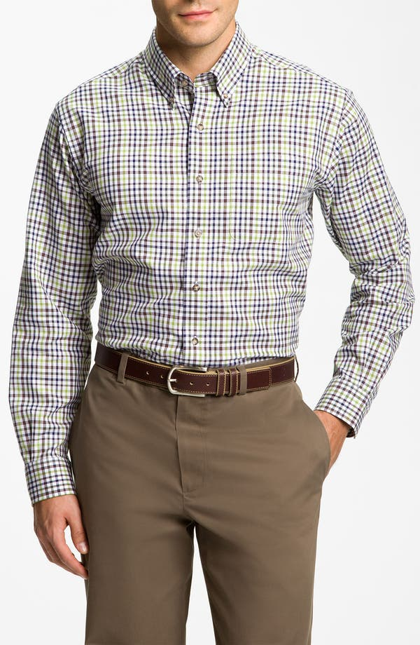 Main Image - Cutter & Buck 'Cypress' Plaid Sport Shirt (Big & Tall)