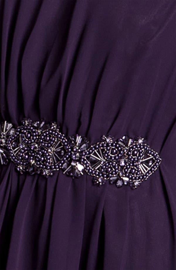 Alternate Image 3  - JS Boutique Beaded Draped Chiffon Dress