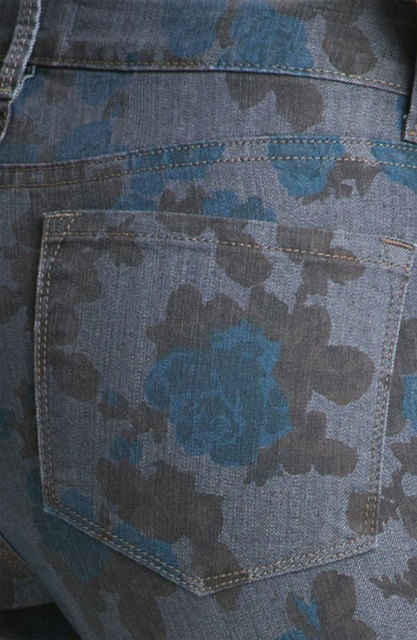 Alternate Image 3  - NYDJ 'Sheri - Wild Rose' Print Skinny Twill Jeans