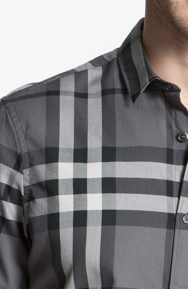 Alternate Image 3  - Burberry Brit Trim Fit Check Sport Shirt