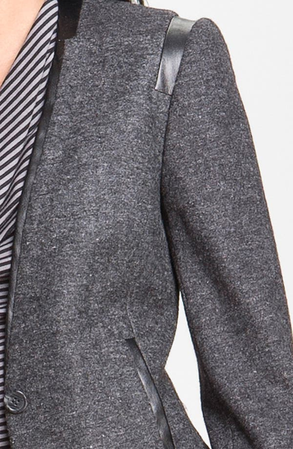 Alternate Image 3  - Halogen® Faux Leather Trim Jacket