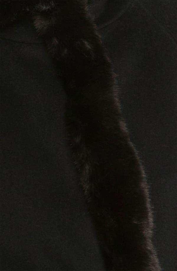 Alternate Image 3  - Ellen Tracy Faux Fur Trimmed Cape