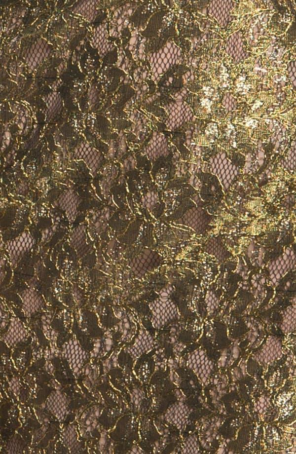 Alternate Image 3  - BCBGMAXAZRIA Metallic Lace Mesh Panel Minidress
