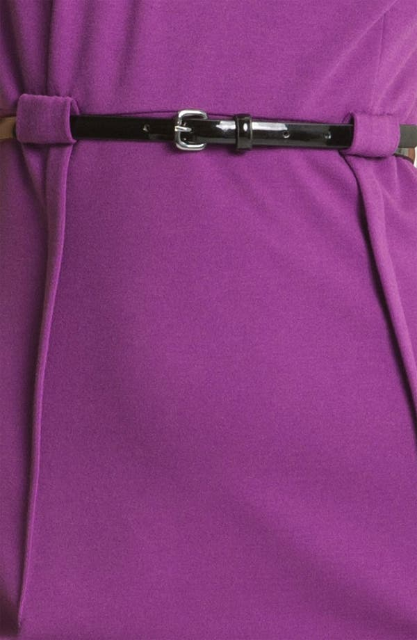 Alternate Image 3  - Calvin Klein 'Stretch Luxe' Belted Sheath Dress