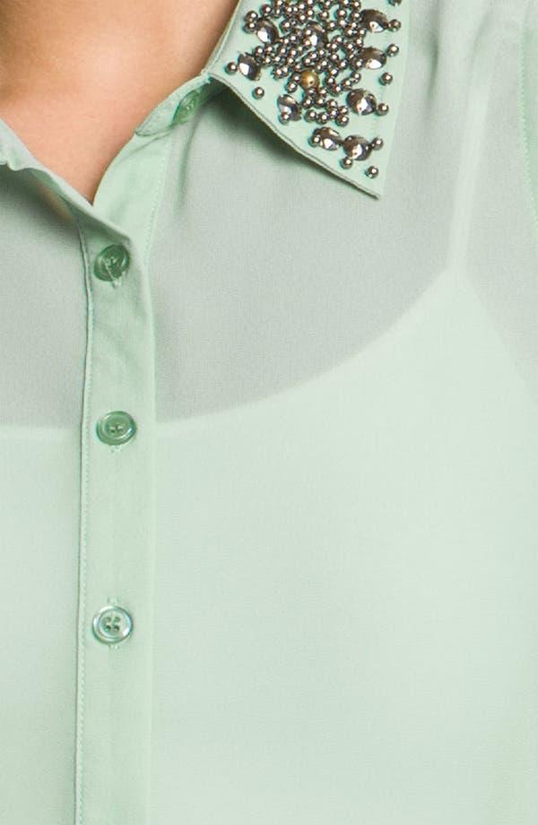 Alternate Image 3  - Lush Stud Collar Shirt (Juniors)