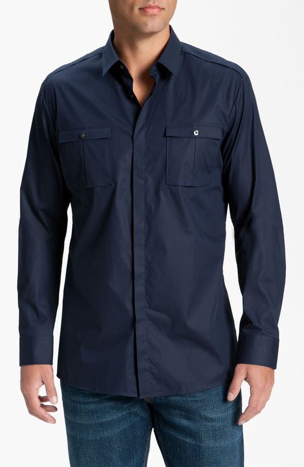 Alternate Image 1 Selected - HUGO 'Eso' Slim Fit Sport Shirt