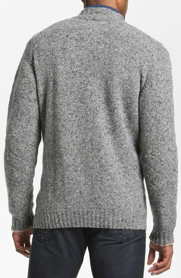 Alternate Image 2  - Hickey Freeman 'Donegal' Wool Blend Zip Cardigan