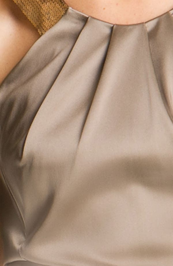 Alternate Image 3  - Calvin Klein Sequin Strap Satin Sheath Dress