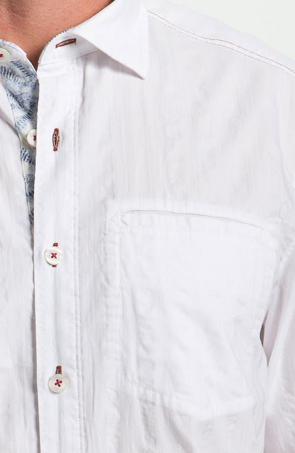 Alternate Image 3  - Tommy Bahama 'White Stripe' Sport Shirt