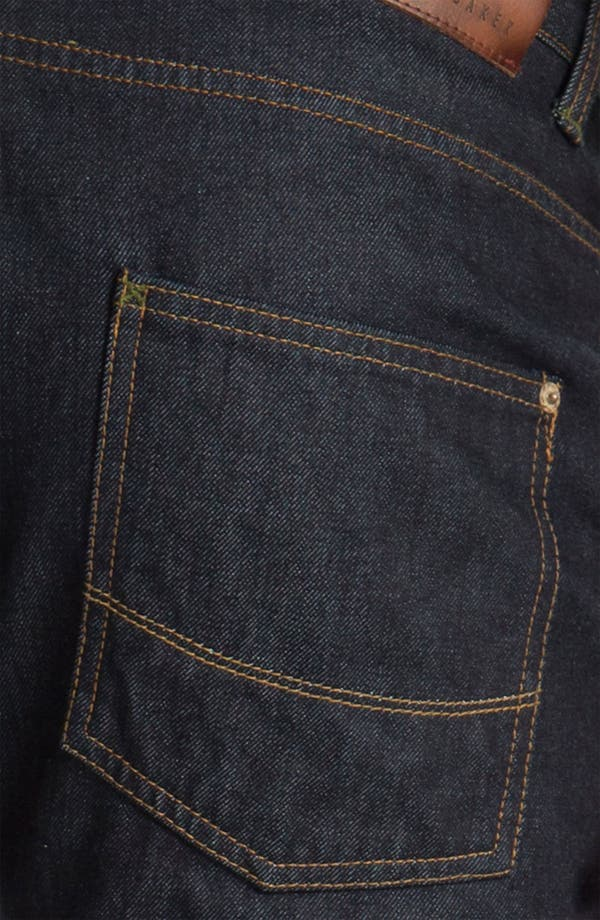 Alternate Image 4  - Ted Baker London Straight Leg Jeans (Rinse Denim)