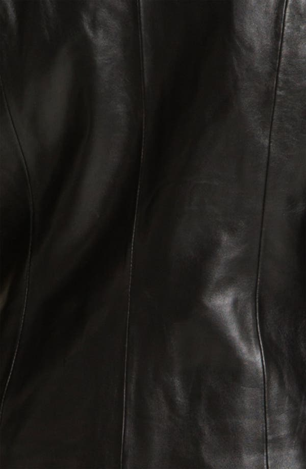 Alternate Image 3  - Classiques Entier® Knit Sleeve Leather Jacket