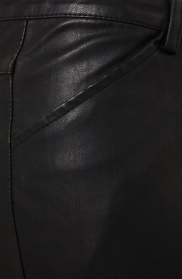 Alternate Image 3  - Topshop 'Kat' Faux Leather Biker Pants
