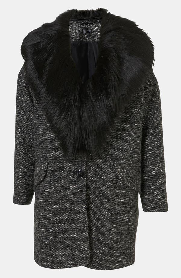 Main Image - Topshop Faux Fur Collar Coat