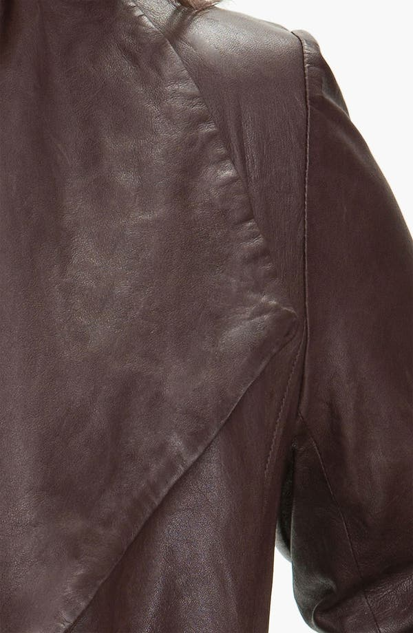 Alternate Image 3  - Eileen Fisher Open Front Leather Jacket (Plus)
