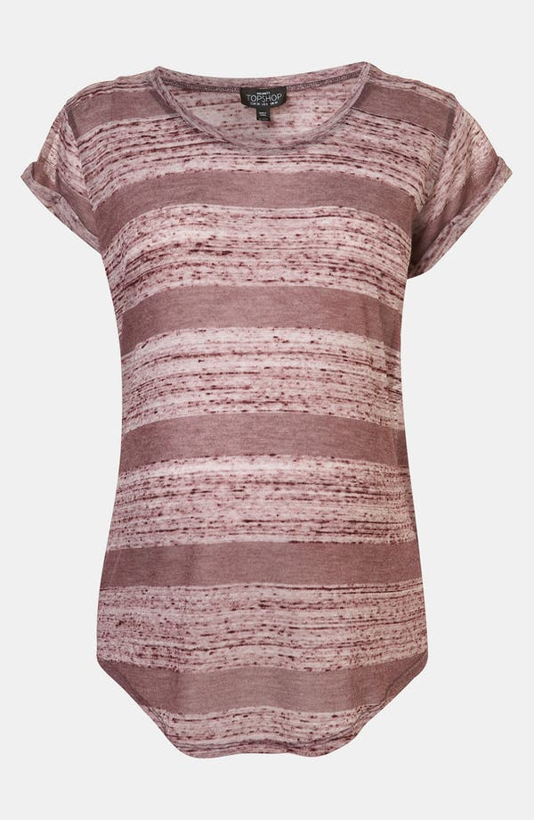 Alternate Image 1 Selected - Topshop Burnout Stripe Maternity Tee