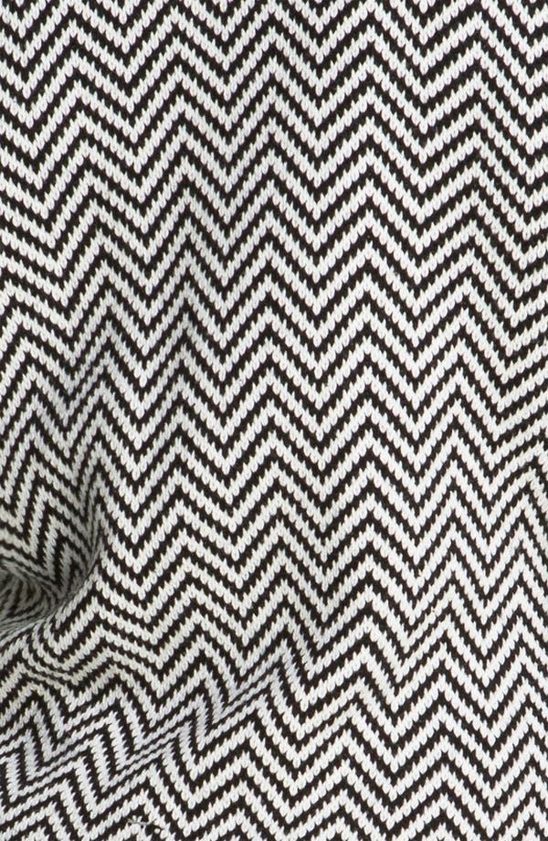 Alternate Image 3  - Halogen® Faux Leather Trim Herringbone Sweater Jacket