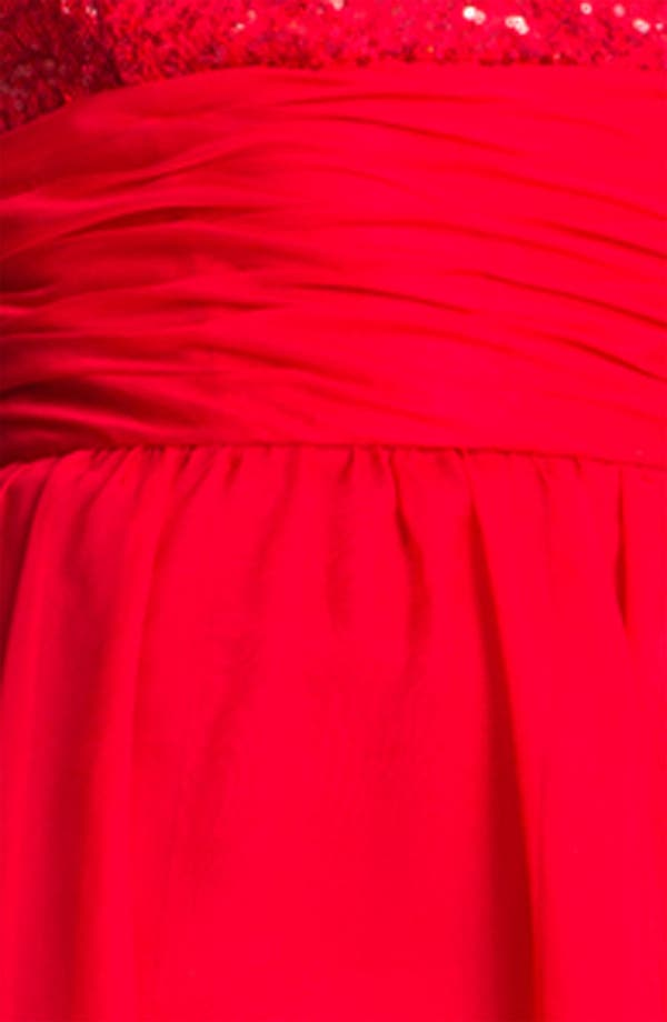 Alternate Image 3  - Jessica McClintock Sequin Bodice High/Low Chiffon Dress