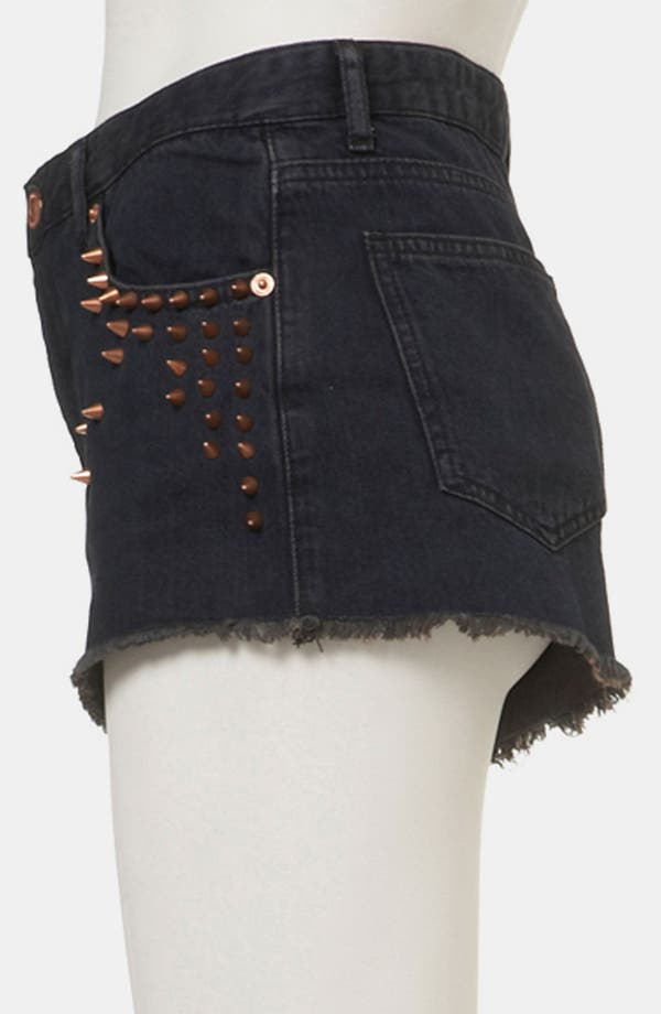 Alternate Image 4  - Topshop 'Holly' Studded Denim Hot Pants