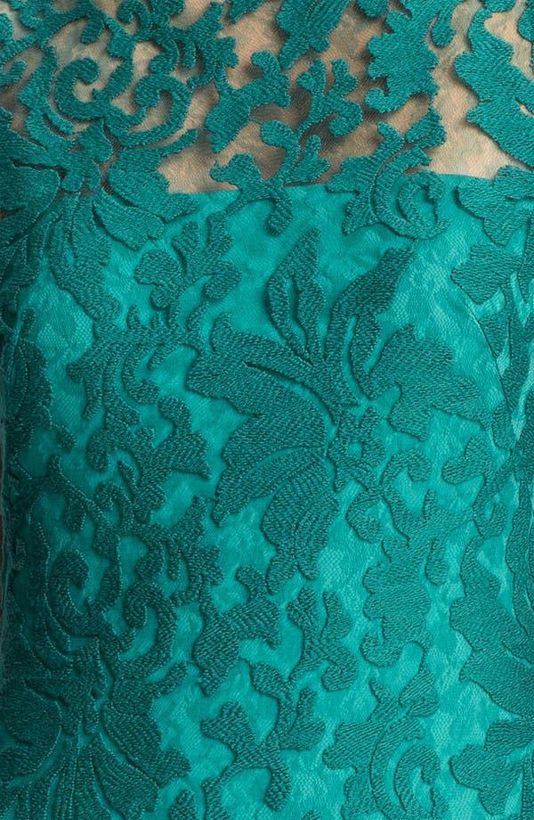 Alternate Image 3  - Tadashi Shoji Illusion Yoke Crochet Lace Sheath Dress