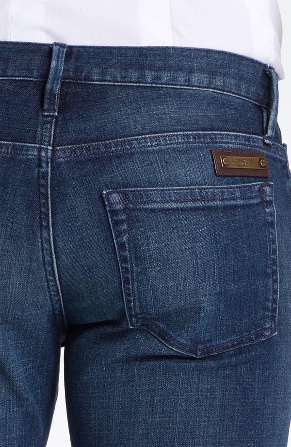 Alternate Image 4  - Burberry Brit 'Cavendish' Straight Leg Jeans (Denim Blue)