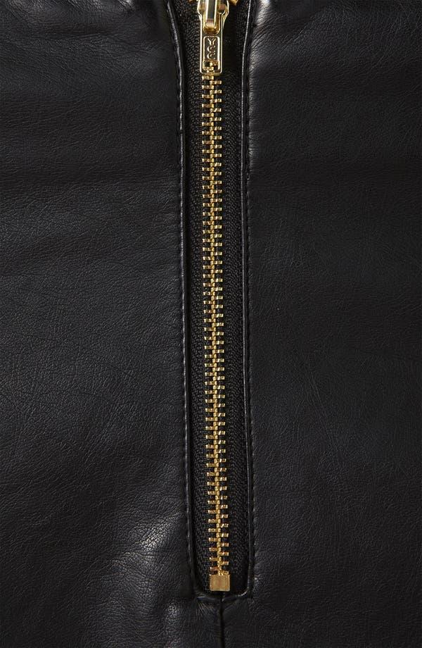 Alternate Image 3  - Topshop Faux Leather Miniskirt