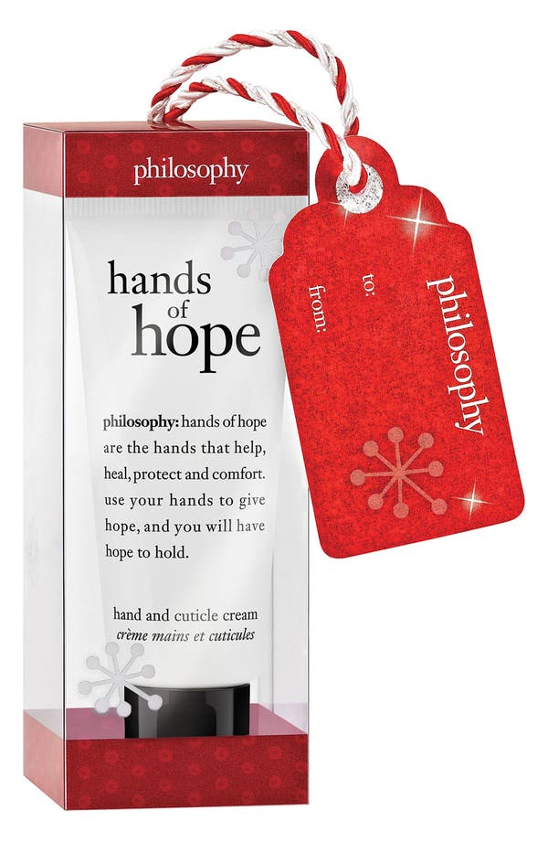 Alternate Image 1 Selected - philosophy 'hands of hope' hand & cuticle cream ornament