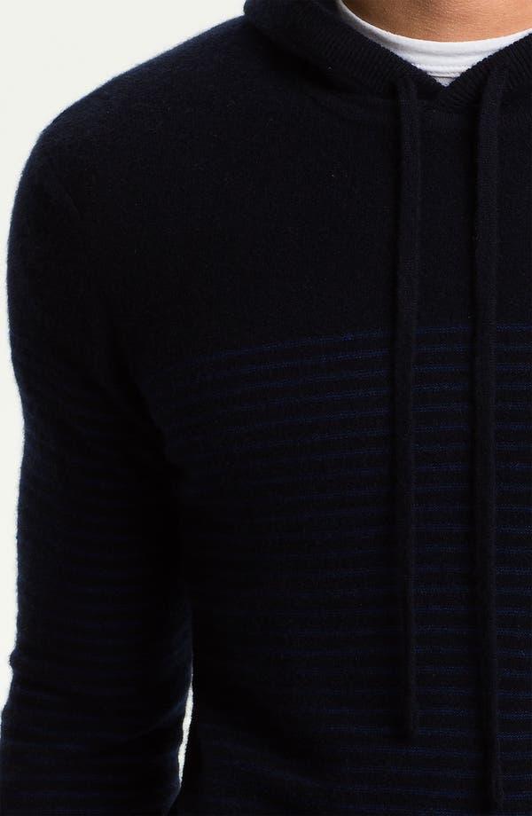 Alternate Image 3  - Vince Breton Stripe Cashmere Hoodie