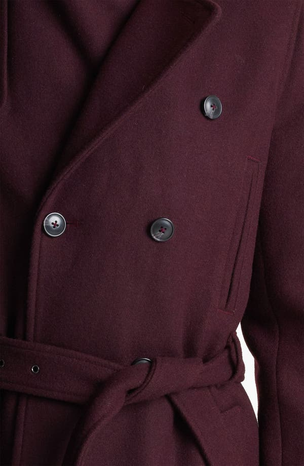 Alternate Image 3  - Topman Double Breasted Wool Blend Trench Coat