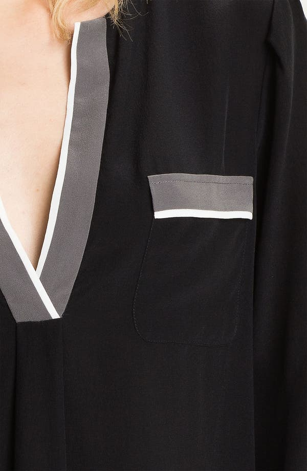 Alternate Image 3  - Joie 'Mystic' Contrast Trim Silk Shirt