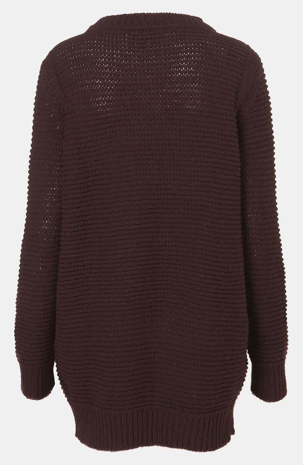 Alternate Image 2  - Topshop Zip Shoulder Textured Knit Sweater