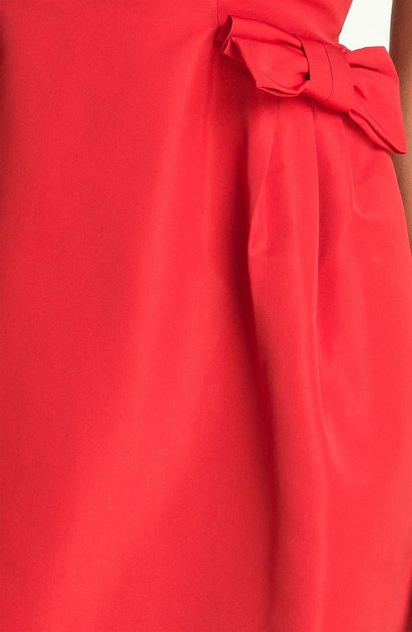 Alternate Image 3  - Taylor Dresses Bow Detail Woven Shift Dress