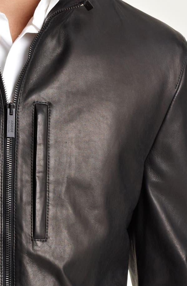 Alternate Image 3  - Armani Collezioni Leather Parka