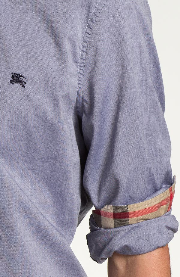 Alternate Image 3  - Burberry Brit Trim Fit Chambray Sport Shirt