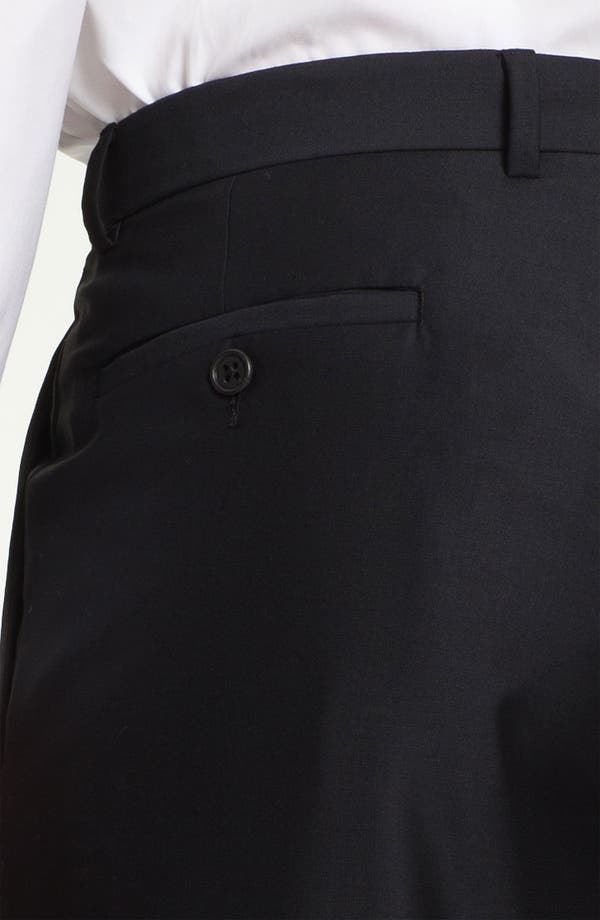 Alternate Image 3  - John W. Nordstrom® Signature Flat Front Tuxedo Trousers