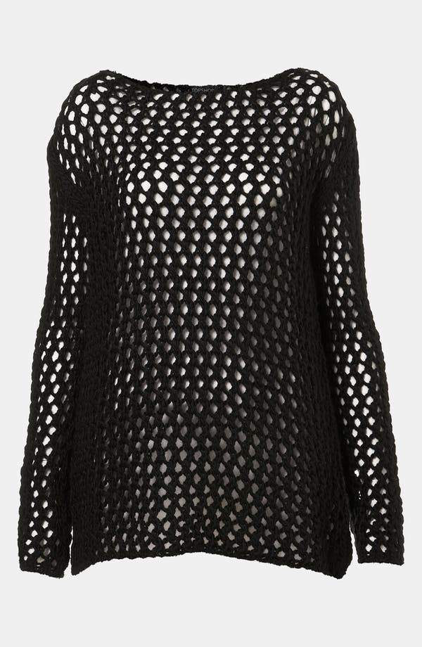Alternate Image 1 Selected - Topshop Net Knit Sweater