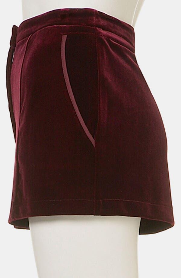 Alternate Image 4  - Topshop Velvet Shorts