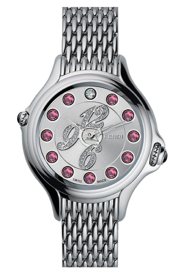 Alternate Image 2  - Fendi 'Crazy Carats' Diamond Dial Bracelet Watch, 38mm