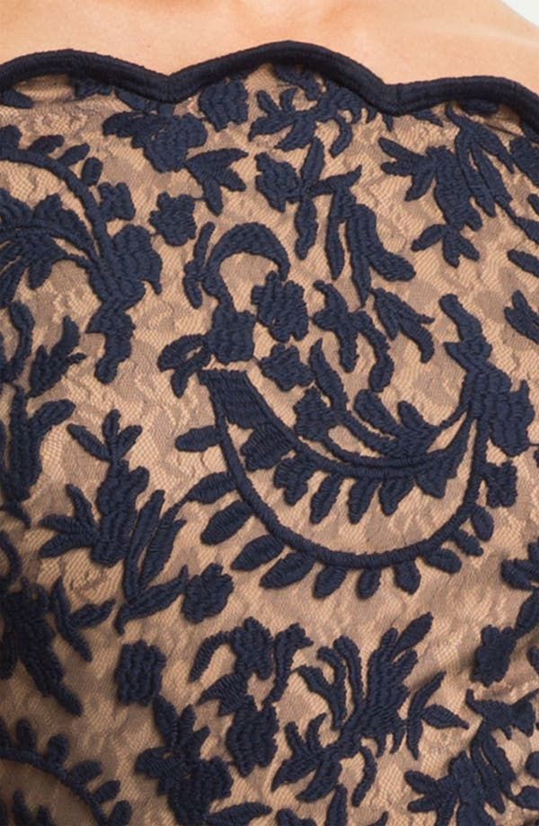 Alternate Image 3  - Tadashi Shoji Lace Overlay Off Shoulder Gown