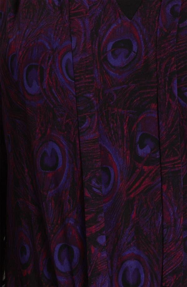 Alternate Image 3  - MICHAEL Michael Kors Peacock Print Tie Neck Blouse (Plus)