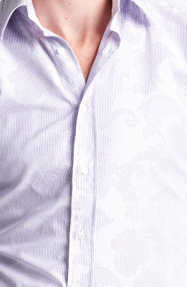 Alternate Image 3  - Etro Pinstripe Jacquard Print Dress Shirt